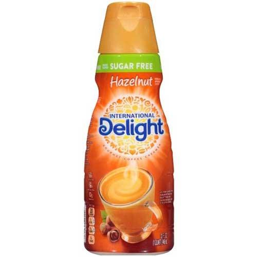 International Delight Sugar Free Hazelnut Coffee Creamer, 32 Fluid Ounce - 6 per case.