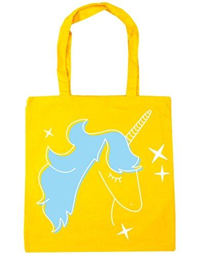 Hippowarehouse Azul Unicornio 42 De Bolsa De Gimnasio Amarillo Asas Comercial Playa Litros X38cm De Color Estrella 10 Cm rE5HqE