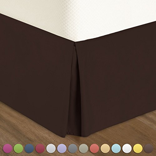 chocolate bed skirts queen size - 5
