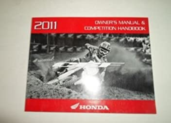 2011 honda crf250r owners manual competition handbook factory oem rh amazon com honda crf250r owner's manual pdf honda crf250r owner's manual pdf