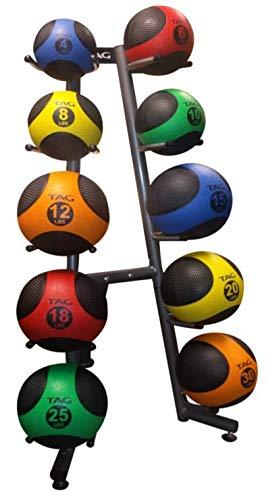 TAG Fitness 10 Ball Medicine Ball Rack