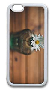 MOKSHOP Adorable Daisy in Bottle Soft Case Protective Shell Cell Phone Cover For Apple Iphone 6 Plus (5.5 Inch) - TPU White
