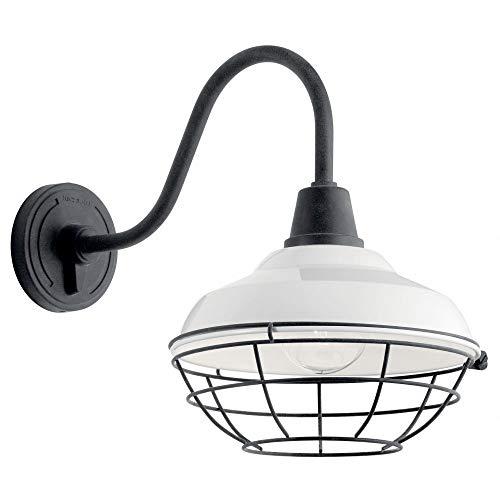 Kichler Lighting 49990WH Pier - One Light Outdoor XLarge Wall Lantern, White ()