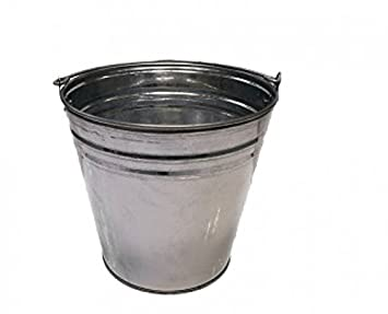 Cubo galvanizado de zinc, cubo decorativo metálico de 7, 10 y 12 litros: Amazon.es: Bricolaje y herramientas