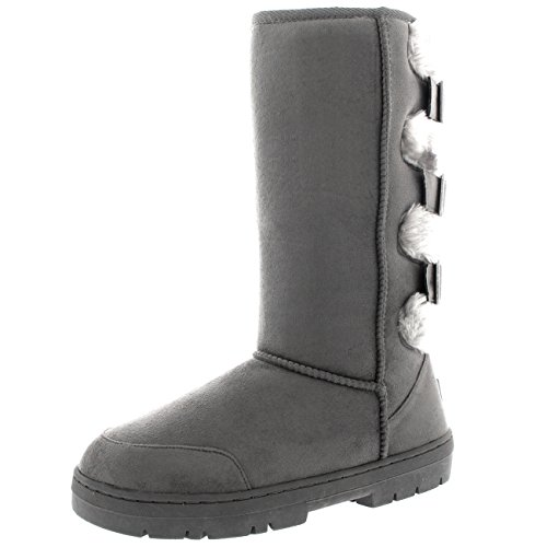 Bottes Holly de Imperm Fourrure Femmes Back Three Buckle 5Bqv4S