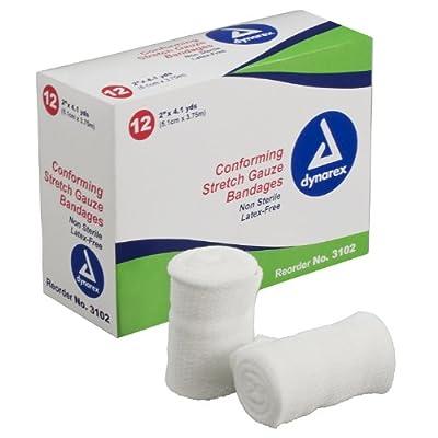 Dynarex Conforming Stretch Gauze Bandage 2 in X 4.1 yds