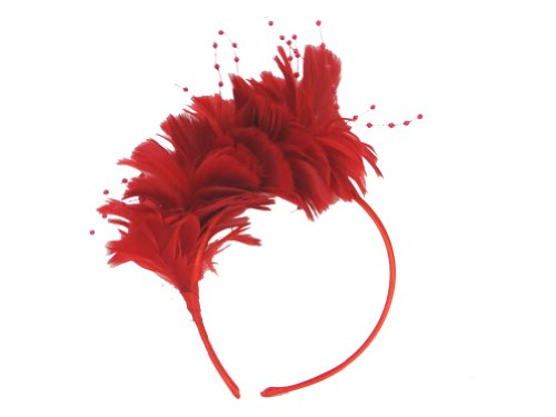 Red Hat Society Radiant Red Feather Headband (Society Clothing)