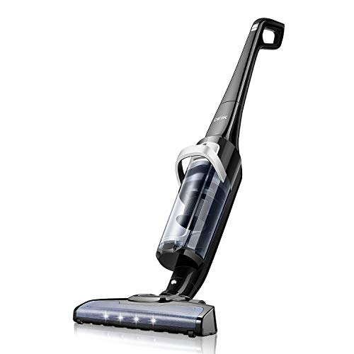 Deik Cordless Vacuum Cleaner, Vacuum Cleaner with 28.8V Li-ion Battery Powered, Lightweight Rechargeable Bagless Stick Vacuum, Cyclonic HEPA Filtration System with LED Brush