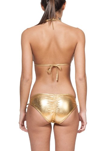 Ladies' New Liquid String Bikini 2 Piece Swimsuit By Gary Majdell Sport Liquid Gold Large