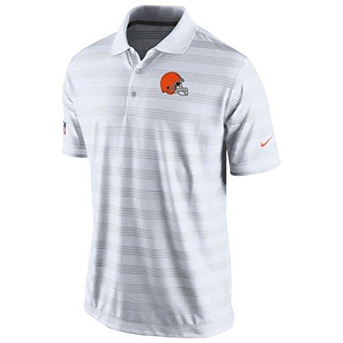 Mens Cleveland Browns Nike White Preseason Performance Polo (Size Medium)