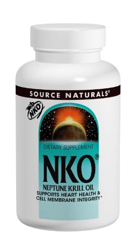 Source Naturals NKO Neptune Krill Oil 500mg, Supports Heart Health & Cell Membrane Integrity, 60 Softgels