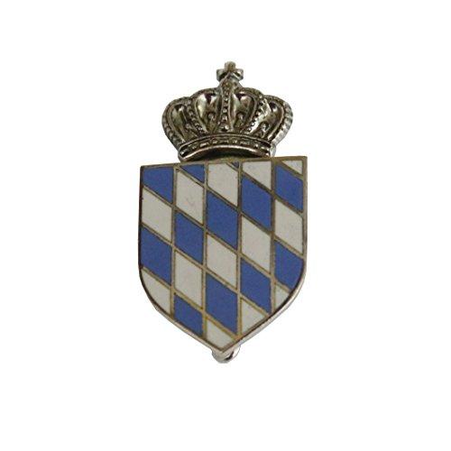 Breiter - Hutanstecker, Hutabzeichen, Hutschmuck, Anstecker: gekröntes bayerisches Wappen