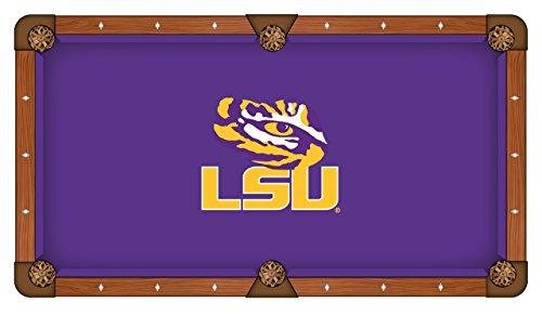 Holland Bar Stool Co. LSU Tigers HBS Purple with Yellow Logo Billiard Pool Table Cloth ()