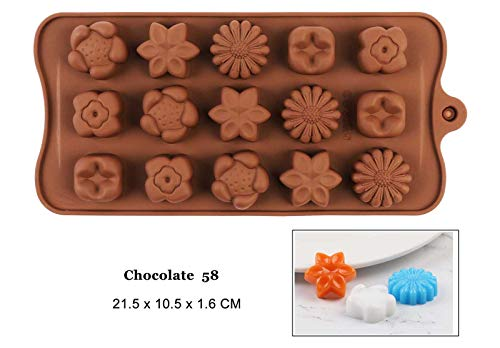 ZDM Professional New Silicone Chocolate Mold 3d Shapes Chocolate baking Tools Non-stick Silicone cake mold Jelly and Candy Mold hot sale DIY best Chocolate 58 ()