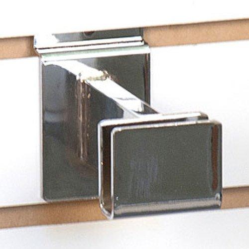 """New Chrome Slatwall Hangrail Bracket 3"""", for 1/2""""x1-1/2"""" Rectangular Tubing"""