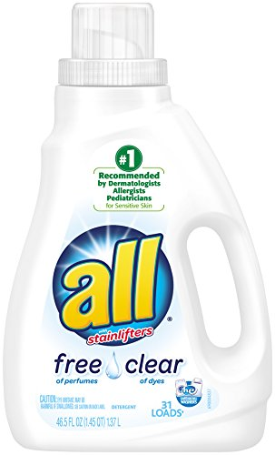 all Liquid Laundry Detergent, Free Clear for Sensitive Skin, 46.5 Fluid Ounces, 31 Loads