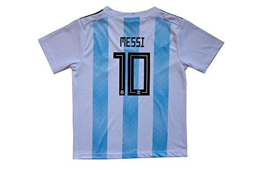 ab62680ea KID BOX 2018 Argentina LIONEL MESSI  10 Home Soccer Kids Jersey   Short Set  Youth