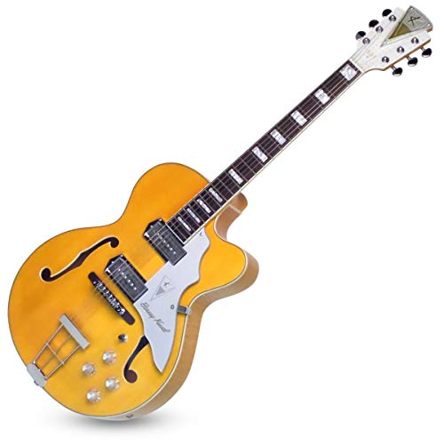 "Kay Reissue 1957 Barney Kessel ""Artist"" Electric Guitar Limited Production Signature Edition & Case – Blonde (K6700VB)"