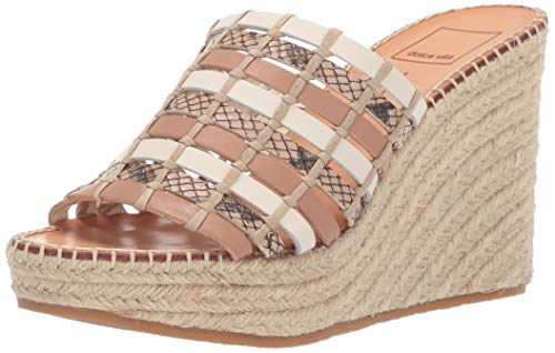 Dolce Vita Women's Prue Wedge Sandal Natural Multi Leather 5 M US