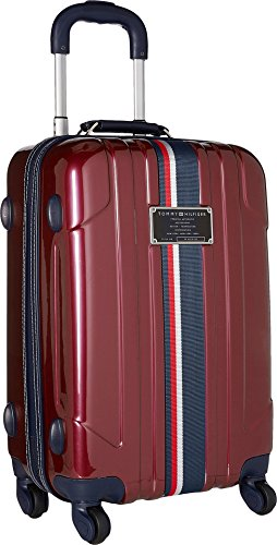 Tommy Hilfiger Lochwood 21 Inch Spinner Carry-On Luggage, Burgundy, One - Luggage Carry On Burgundy