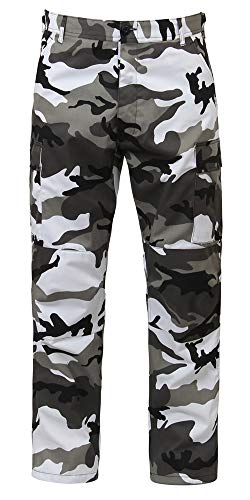 Camouflage Military BDU Pants, Army Cargo Fatigues (City Camouflage, Size Medium)