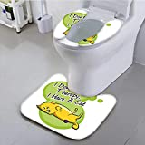heated cushion toilet seat Philiphome Toilet Cushion Suit Cat I Dont Need Therapy I Need a Cat Quote Humorous Illustration Green Non Slip Comfortable