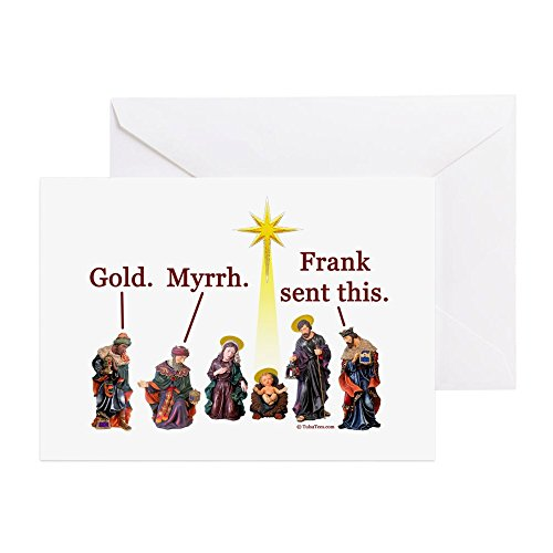 (CafePress Frank Sent This Greeting Card (20-pack), Note Card with Blank Inside, Birthday Card Matte)