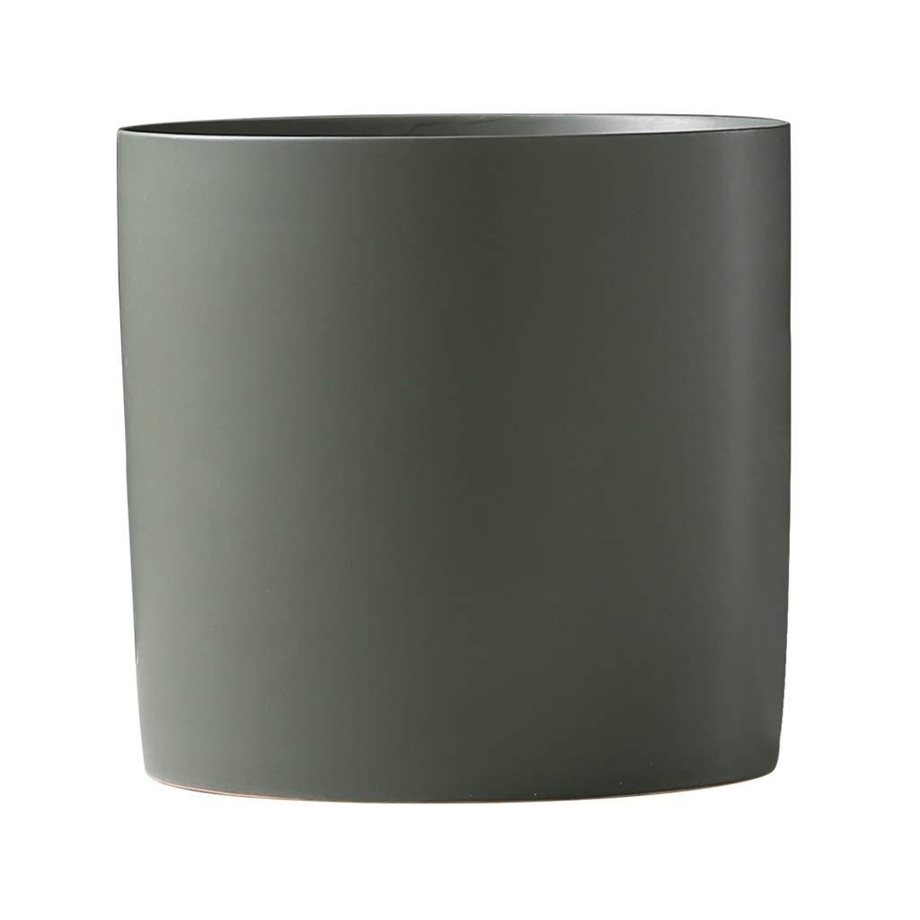 LIULIJUN 花瓶現代のミニマリストセラミック花瓶ホームリビングルームプラグ花小さなディスプレイテーブル装飾装飾品クリエイティブ (Color : Green) B07T8Y4WCW Green