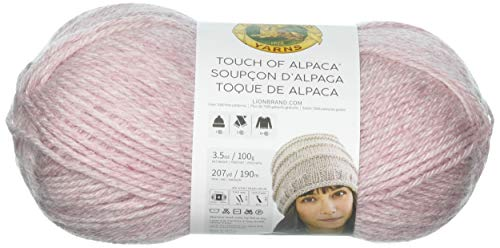 Lion Brand Yarn 674-104 Touch of Alpaca Yarn, Blush