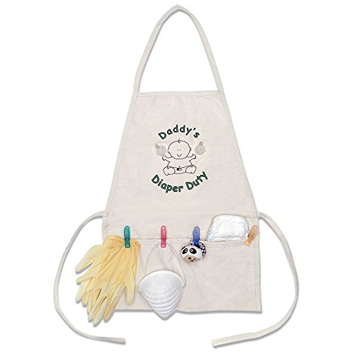 Daddy's Diaper Duty Apron - Unique New Dad Gag Gift- Baby Shower Gift Idea -