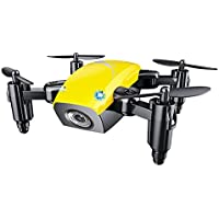 ShenStar S9W Mini Quadcopter Portable Drone with Camera Altitude Hold Headless Mode (Yellow)