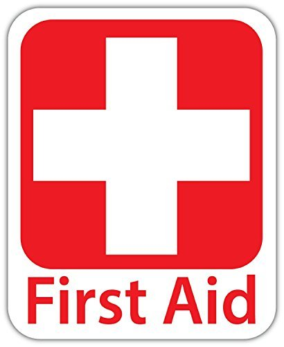 Emergency First Aid Kit 4 Quot X5 Quot Safety Sign Sticker Decal