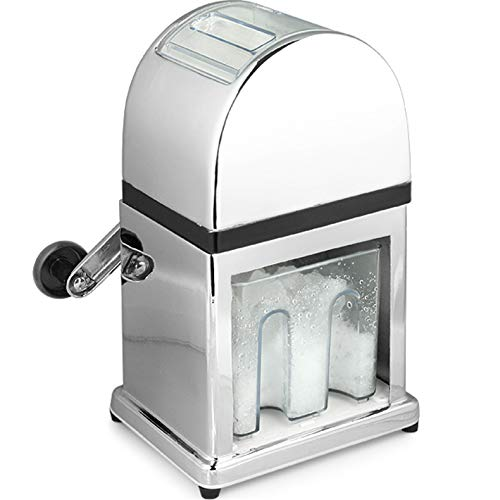 Ice Crusher - Manual Hand Crank Operated Ice Breaker with Stainless Steel Blades for Fast Crushing - IECS0002