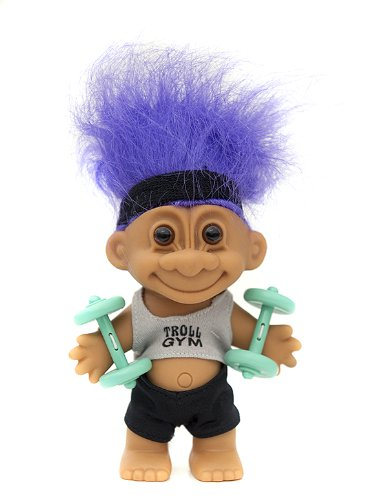 My Lucky GYM TROLL w/Barbells 6