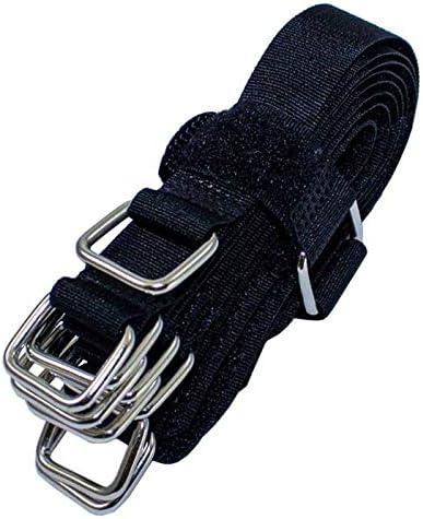 10x Klettbinder 150x16mm Kabelbinder wiederverwendbar Band gekreuzt blau