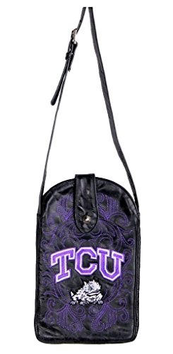 NCAA TCU Horned Frogs Women's Cross Body Purse, Black, One ()