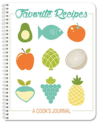 BookFactory Recipe Book/Recipe Journal/Notebook/Blank Cook Book - 120 Total Recipe Pages (8.5