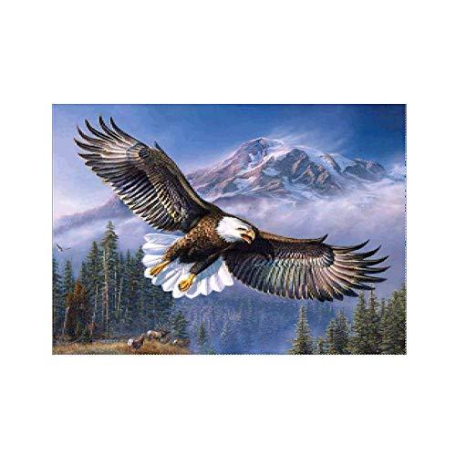 lightclub Flying Eagle Rainbow Flower Cross Stitch Embroidery Decor Full Diamond Painting z302]()