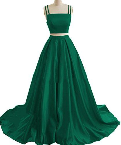 Womens Plus Size Two Piece Dress Green - 4