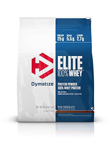 Dymatize Elite 100% Whey Protein, Rich Chocolate, 10 lbs