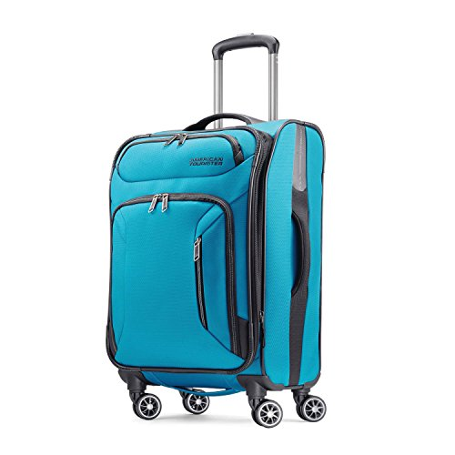 American Tourister Zoom 21 Spinner Carry-On Luggage, Teal Bl