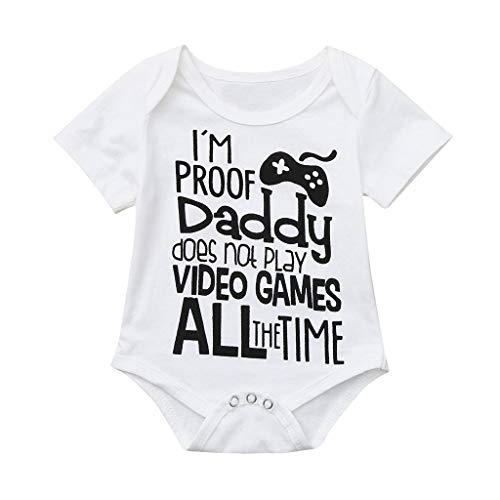 - G-Real 2019 Infant Baby Girl Boy Short Sleeve Letter Romper Bodysuit Clothes Outfits