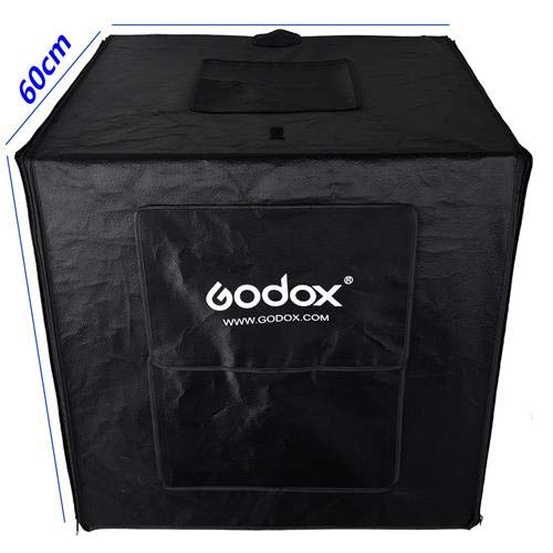 Godox Mini LED Photography Studio Shooting Tent 60x60x60cm LSD60 2PCS LED lamp Band Power 40W 12000~14000 Lumen with Carry Bag