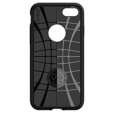 Spigen Rugged Armor iPhone 7 Case with Resilient Shock Absorption and Carbon Fiber Design for iPhone 7 2016 - Black