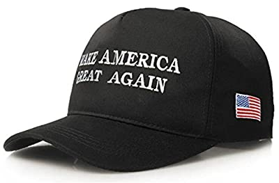 Make America Great Again - Donald Trump 2016 Campaign Adjustable Cap Hat (D Black)