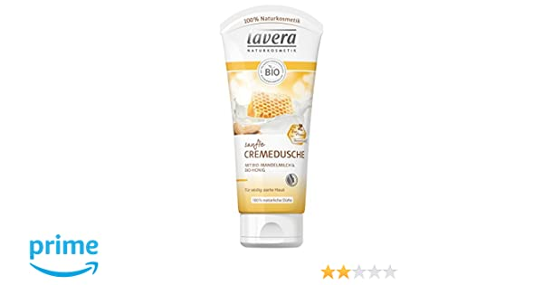 lavera suave crema ducha almendra Leche y miel ∙ Cuidado ducha ∙ bio Planta Agentes ✓ Natural & innovadora ✓ Maquillaje Natural 1er Pack (1 x 200 ml): ...