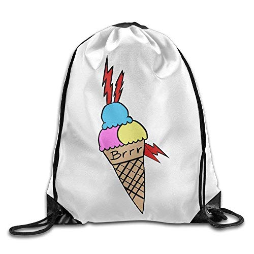 huachuangxin Gucci Mane Ice Cream Tattoo Drawstring Backpack Cool Sports String Bag Size: 4133cm