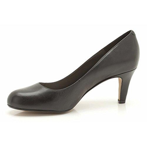 de Arista tacón Zapatos Mujer Cuero Abe Black de Clarks Cerrados YdUPqPw