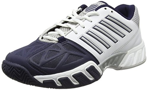 K-Swiss Performance Bigshot Light 3, Scarpe da Tennis Uomo Bianco (White/Navy)