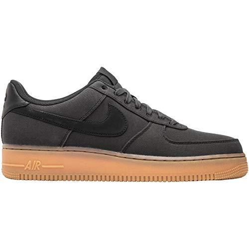 Nike Mens Air Force 1 07 LV8 Canvas Black Gum Trainers 7.5 US